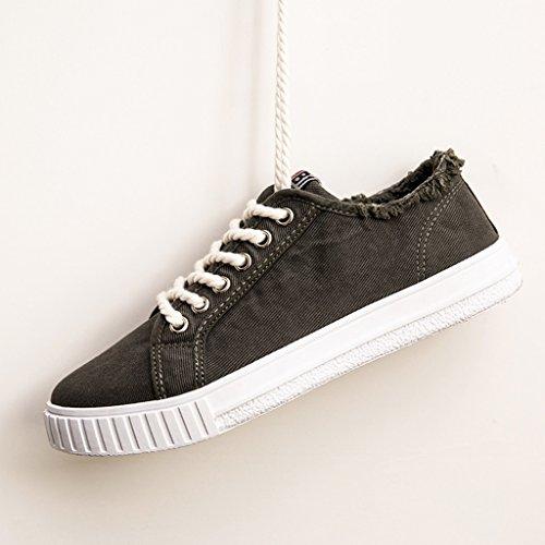 Black stile Nuove tela in di marea Color primavera uomo scarpe di basse Scarpe aiuto tendenza Espadrillas da basse maschio stile scarpe coreano selvaggio scarpe 44 Size scarpe Black Harajuku wnq04xIz