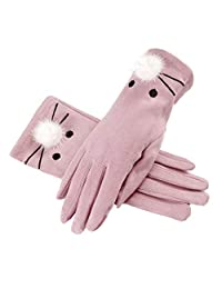 Gloves - Gloves Female Winter Students Korean Version of The Cute Cartoon Autumn Driving Cycling Thin Section Winter Plus Velvet