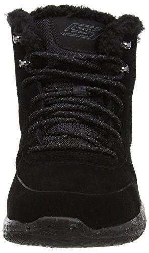Skechers GO Walk CIty - zapato botín de piel mujer negro - negro