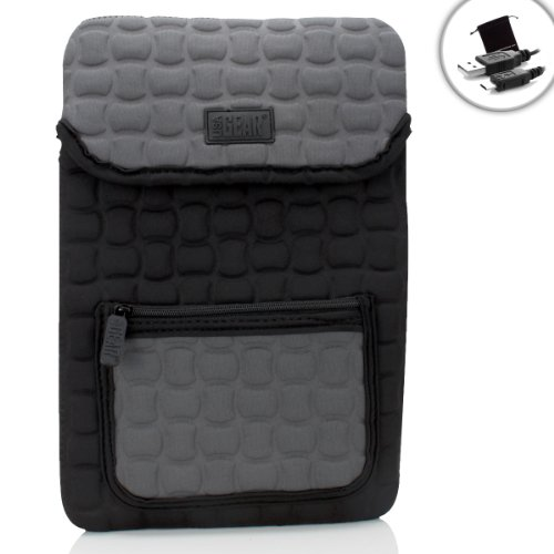 USA Gear FlexARMOR X Neoprene Tablet Sleeve Case w/Handle, Dense Weather-Proof Neoprene Exterior & Accessory Pocket - Works w/Microsoft Surface 3 LTE, Surface Pro 4, Surface 2 & More Tablets!