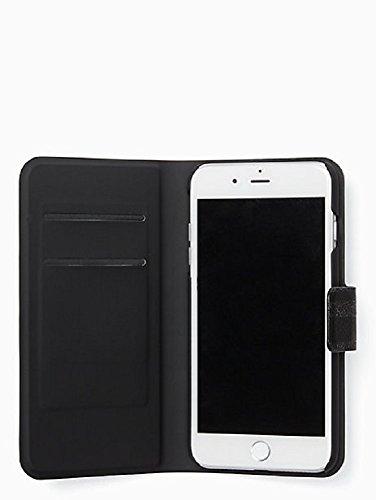 Kate Spade New York Black Glitter Stripe Folio Case for iPhone 7 Plus & iPhone 8 Plus by Kate Spade New York (Image #1)