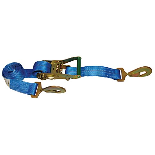 Ancra Tie Down Anchor (S-Line 500-C8-BLUE Ratchet Car Tie Down with Snap Hooks, Blue Webbing, 2-Inch by 8-Feet)