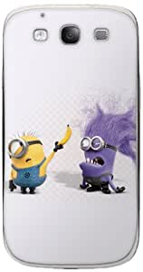 Zing Revolution MS-DMT270415 Despicable Me 2 - Evil Minion Banana Cell Phone Cover Skin for Samsung Galaxy S III - Retail Packaging - Multicolored