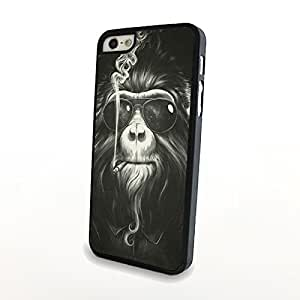 Cool Smoking Gorilla with Suit and Sunglasses Gentlemen Design iPhone 5/5s Matte Surface Carrying Back Hard Cover Plastic Case Creative Style - Can Customize Model and Pattern Wholesale and Retail