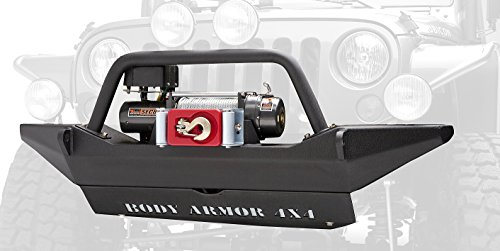 Body Armor 4x4 JK-19531 Black - Steel Front Winch Bumper for 2007-2013 Jeep (4x4 Front Bumper)