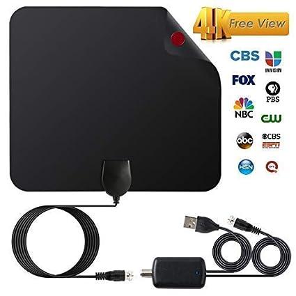 Amazon.com: Antena HDTV de nueva versión 2018, antena HD ...