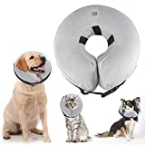ATLES Inflatable Dog Collars After Surgery, Protective Pet Collar for Recovery for Dogs and Cats, Soft Dog Cones (L)