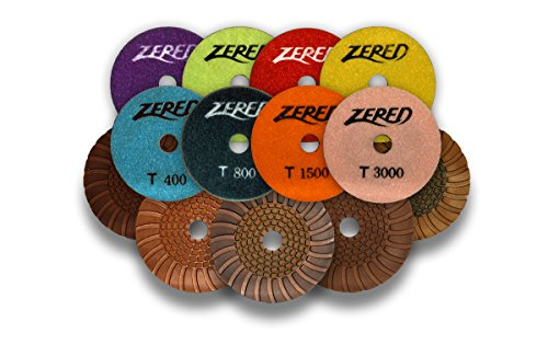 Zered PP4-T 4 in. T-Series Diamond Resin Polishing Pad For Granite - Polishing Resin Pad Diamond