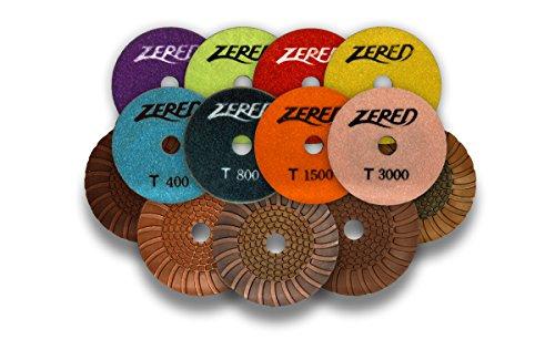 Zered PP4-T 4 in. T-Series Diamond Resin Polishing Pad For Granite - Polishing Diamond Resin Pad