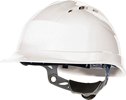 Deltaplus Mens Quartz4 Safety Helmet Hard Hat Bump Cap Construction White