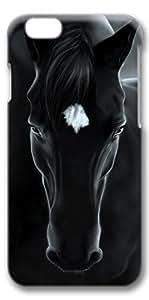 iphone 6 case, White Black Horse Unique Custom Hard Case Cover for iphone 6 4.7 inch