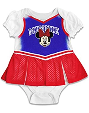 Baby Girls' Minnie Mouse Cheerleader Onesie Skirt