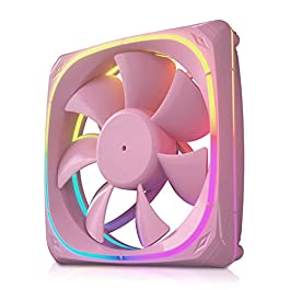 Vetroo CF120 120mm Case Fan 5V 3 PIN Addressable RGB MB Sync PC Cooling Fan W/Pink Fan Frame for Radiator/CPU Cooler…