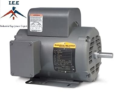 5 HP Single Phase Baldor Electric Compressor Motor 184T Frame # L1410T 230 Volt