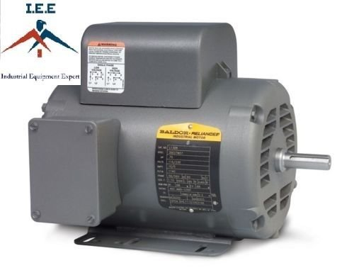 5 HP Single Phase Baldor Electric Compressor Motor 184T F...