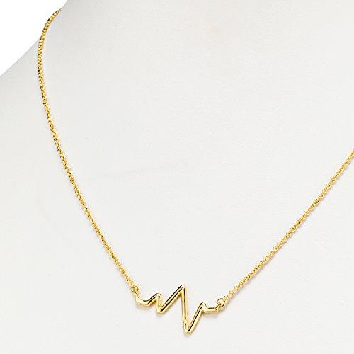 Abbott Collection 27-MATRIX-132-GOLD Heartbeat Necklace