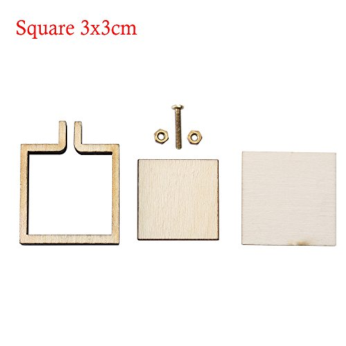 Mini Embroidery Hoop Wooden Embroidery Frame Small Hand Stitching Hoop Cross Framing Hoop DIY Crafts Gift Earring (Square 3x3cm) (Hand Hoop Square Quilting)
