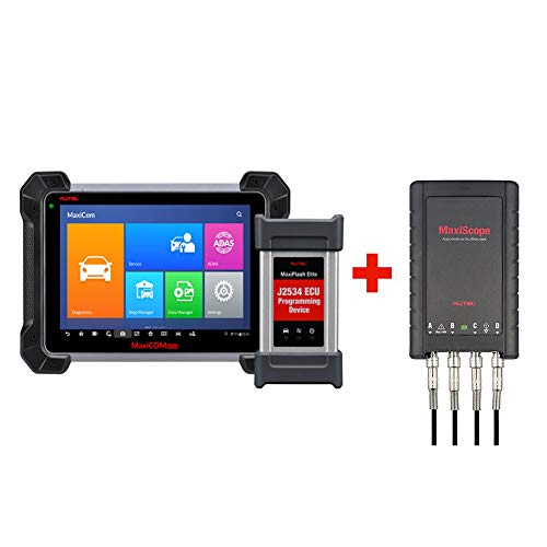 Autel MaxiCOM MK908P Diagnostic Scanner Automotive Scan Tool with ECU Programming and J2534 Reprogramming + Free Oscilloscope MaxiScope ()