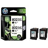 HP 802 Ink Cartridge, Twin-Pack (Black)