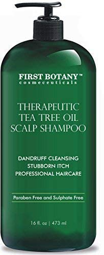 (Tea Tree Oil Shampoo 16 fl oz - Anti Dandruff Shampoo Natural Essential Oil For Dry Itchy & Flaky Scalp - Sulfate Free, Anti-fungal, Anti-Bacterial Cleanser - Prevents Head Lice & Thinning)