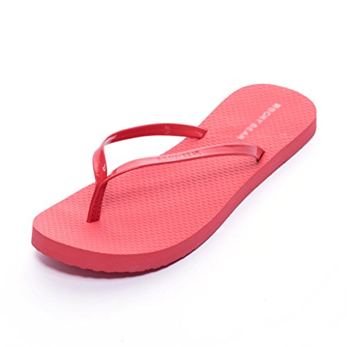 Metal Shiny Beach Female Summer Waterproof Sandals And Slippers Fashion (Color : RED, Size : 38) Red