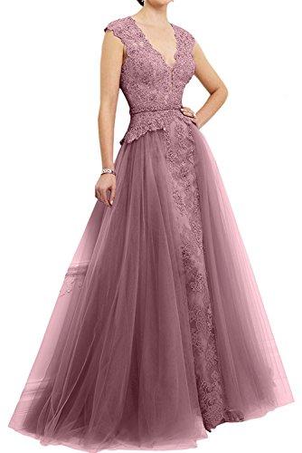 Promkleider Abendkleider Dunkel Braut Abschlussballkleider Rosa Lang La Dunkel Rosa Spitze mit mia Trumpet Ballkleider Schleppe aRqY8A