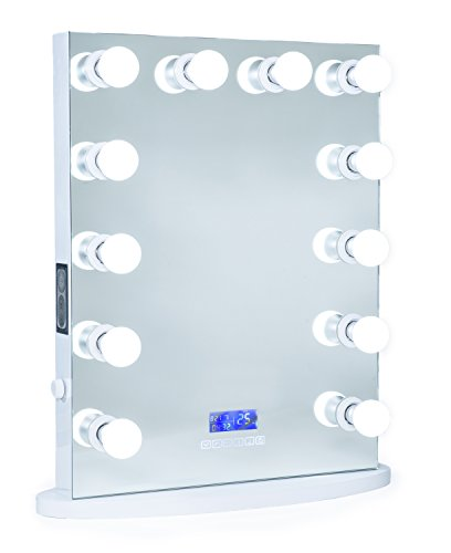 ReignCharm Hollywood Vanity Mirror Bluetooth Audio-Enabled LED Light Bulbs, Border-less