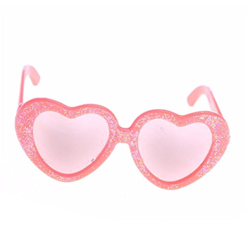 Witspace Stylish Heart Plastic Frame Sunglasses For 18 In Our Generation American Girl Doll Glasses - Old Sunglasses Month 4