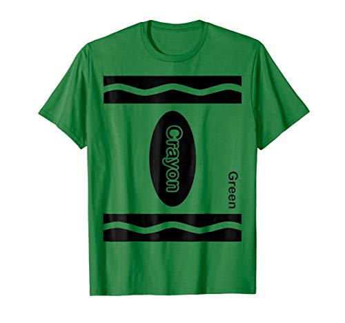 Green Crayon Halloween Costume Shirt For Friends and -
