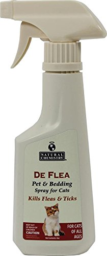 Natural Chemistry De Flea Cat Pet & Bed Spray, 8 oz