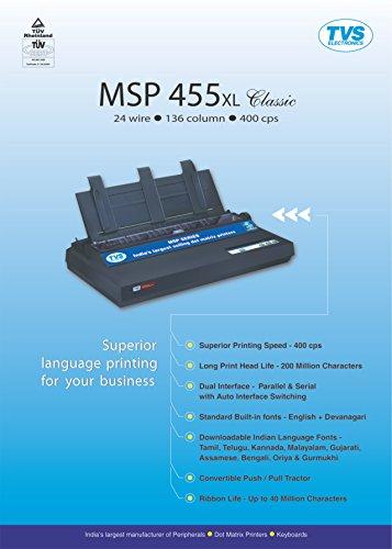 TVS MSP 455 XL 136 Column Dot Matrix Printer