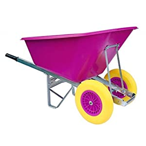 Wheelbarrows-Direct-200L-Pink-with-Puncture-Proof-Wheels-Delivered-Fully-Assembled