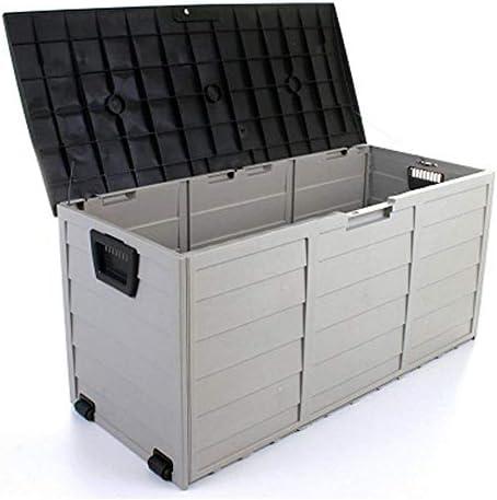 蓋付きガーデン収納ボックス防水、清潔で片付き収納ボックスガーデン屋外大収納スペース収納ボックスガーデン家具、シンプルなアセンブリ不要の工具不要の庭のツールキャビネット