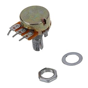 SODIAL(R) B50K 50K Ohm Potenciometro de cono giratorio lineal simple de ajuste 5pzs: Amazon.es: Amazon.es