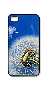Hard Skin Case Cover Shell phone case iphone 4s with screen protector - Dandelion blue sky