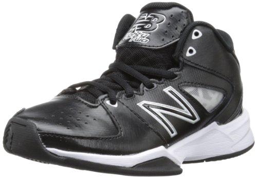 New Balance KB82 Y Basketball Sneaker (Little Kid/Big Kid),Black/White,3.5 M US Big Kid