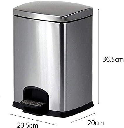Ainiyf Trash Can Edelstahl Fußpedal Trash Pedal Küche Badezimmer Color Silver Size 8l Küche Haushalt