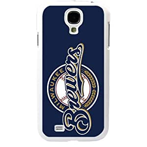 MLB Major League Baseball Milwaukee Brewers Samsung Galaxy S4 SIV I9500 TPU Soft Black or White case (White)