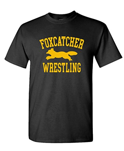 The Goozler Foxcatcher Wrestling - Sport Movie - Mens Cotton T-Shirt, L, Black by The Goozler