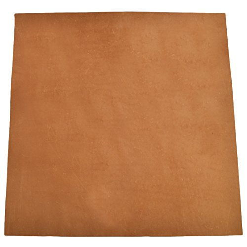 Leather Square (12 x 12 in.) for Crafts/Tooling/Hobby Workshop, Medium Weight (1.8mm) by Hide & Drink :: Toffee Suede