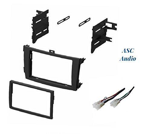 - ASC Audio Car Stereo Dash Install Kit and Wire Harness for Installing an Aftermarket Double Din Radio for 2009 2010 2011 2012 2013 Toyota Corolla - No Factory Premium Amp/JBL