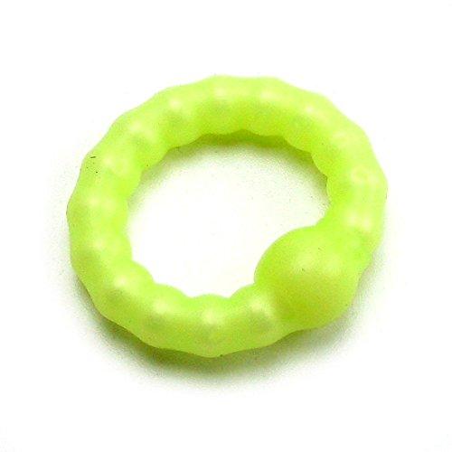 Pearl бисера Продлить петух кольцо 1,5-дюймовый диаметр Желтый