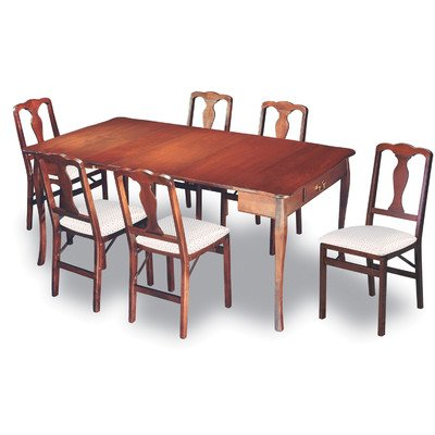Stakmore Expanding Dining Table In Warm Cherry Finish