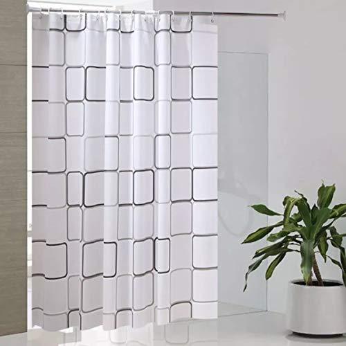 ALHXF Shower Curtain 72x80 Liner 100% PEVA - 3D Effect Design Waterproof Bath Shower Curtain Liner,Eco-Friendly,Rust Proof Grommets ... (80 Curtain Shower)