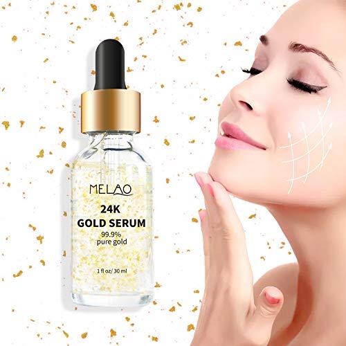 41n62mW sDL - 24k Pure Gold Foil Essence Serum Anti-Wrinkle Anti-Aging Serums For Reducing Fine Lines Brightening Skin Tone Anti-Oxidant Nourishing Whitening Firming