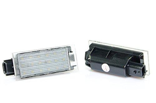 Illuminazione targa a LED Plug /& Play Canbus senza messaggi di errore con approvazione V-032401