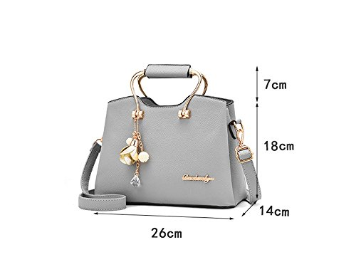 De Sjmmbb Inclined Bolsas Gris De Bags Capas Bolsos Single Tres Three Handbags Layers gris Ocio Solo Shoulder Leisure Sjmmbb Verano New Summer Nueva Hombro 26x14x18cm Fashion De Gray Gray 26x14x18cm Moda Inclinados zrqAwpzxv
