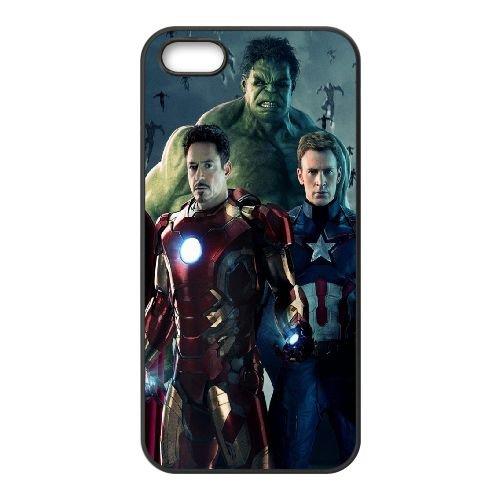 Avengers Age Of Ultron 2015 coque iPhone 5 5S cellulaire cas coque de téléphone cas téléphone cellulaire noir couvercle EOKXLLNCD21878
