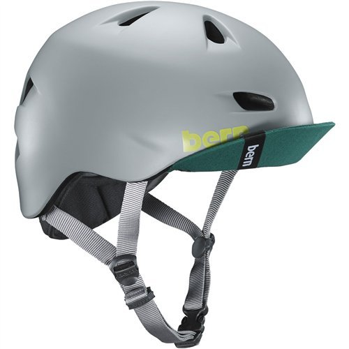 - Bern Unlimited Brentwood Summer Helmet with Flip Visor (Matte Pavement Grey, 2X/3X)