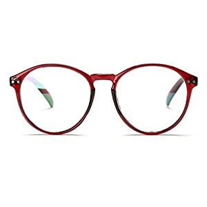 V House Womens Fashion Horn Rimmed Oval Round Circle Clear Lens Glasses C2